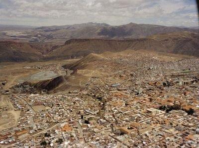 Vista aérea da atual Potosí